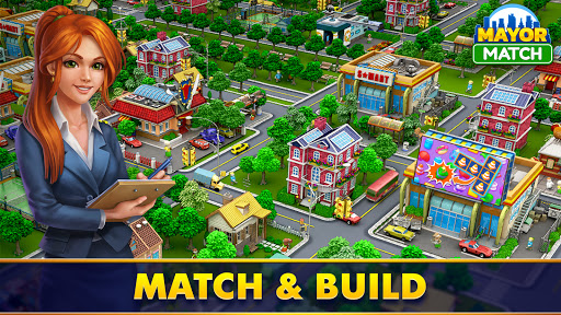 Mayor Match: Town Building Tycoon & Match-3 Puzzle  screenshots 1