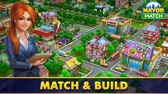 Mayor Match: Town Building Tycoon Mod Apk (Endless Lives/Boosters) 1