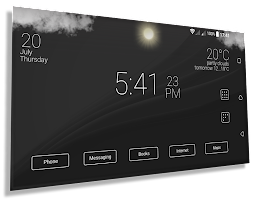 Final Interface - launcher + animated weather
