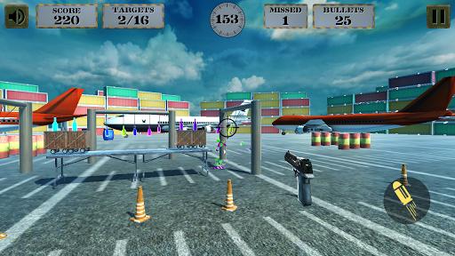 3d bottle shooting gun game screenshot 1