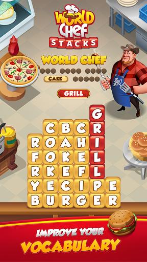Code Triche World Chef - Word Stacks (Astuce) APK MOD screenshots 1