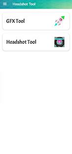 Headshot and GFX Tool For FF Sensitivity 1.7.6 Screenshots 1