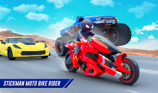 Stickman Moto Bike Hero: Crime City Superhero Game 5 Screenshots 12