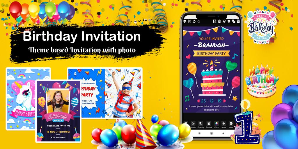 Invitation maker 2020 Birthday & Wedding card Free  poster 2
