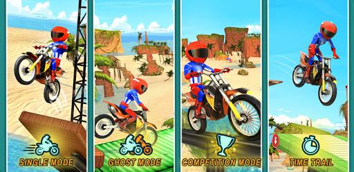 Beach Bike Stunts: Crazy Stunts and Racing Game apktreat screenshots 1