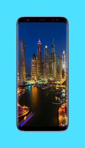 day & night city wallpaper screenshot 2