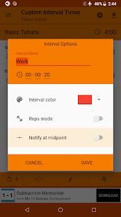 Custom Interval Timer: Workout Timer / HIIT Timer