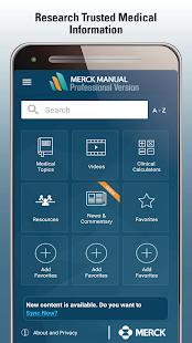 Merck Manual Professional  Screenshots 1
