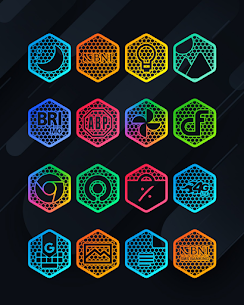 Hexanet APK- Neon Icon Pack [PAID] Download Latest Version 2