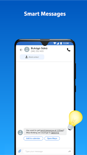Messenger Home - SMS Widget and Home Screen android2mod screenshots 3