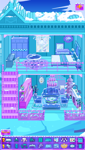 Frozen Dollhouse Design,Ice Dollhouse for girls android2mod screenshots 6