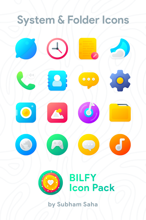 Bilfy Icon Pack  poster 7