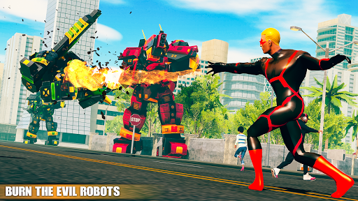 Flying Fire Hero Games: Flying Robot Crime City 1.0.9 screenshots 8