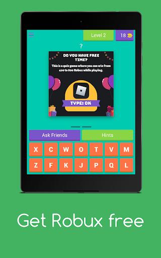 Get Robux Free - Quiz 2021  screenshots 15