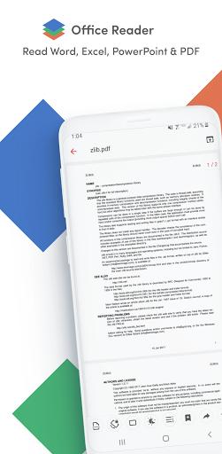 Office Reader - Word, Excel, PowerPoint & PDF  screenshots 1