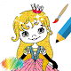 Download Kawaii Princess Coloring Book Glitter For PC Windows and Mac
