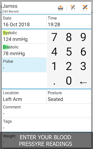 Blood Pressure Log - MyDiary screenshot for Android