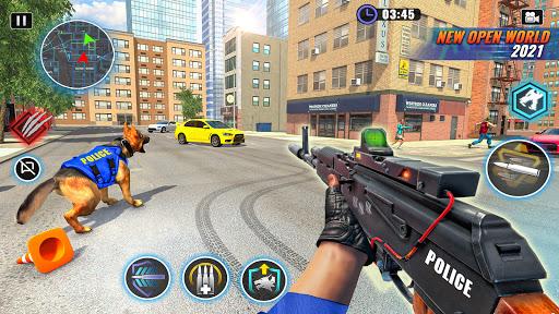 US Police Dog Bank Robbery Crime Shooting Game apkdebit screenshots 3