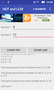 HCF and LCM Calculator For Pc   How To Download Free (Windows And Mac) 5