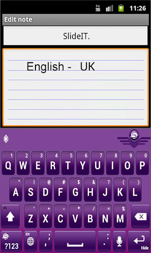 SlideIT English UK pack  screenshots 2