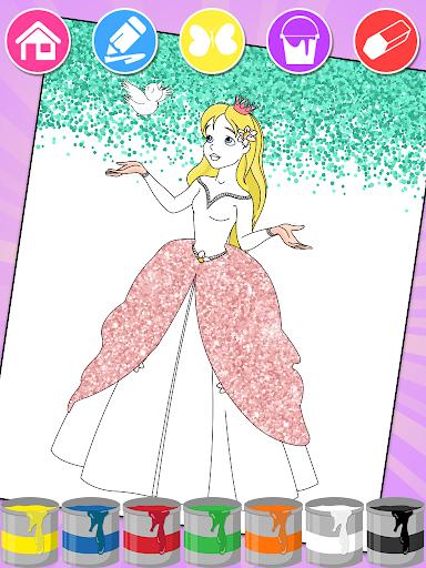 Princess Coloring Book Glitter & Girls Dress Up 1.8.6 screenshots 1