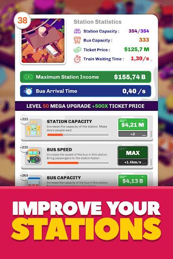 Idle Train Station Management : Money Clicker Inc. Apkfinish screenshots 3