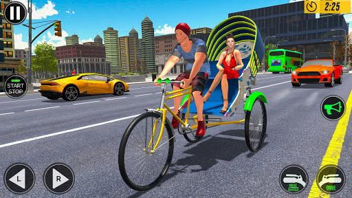 Bicycle Tuk Tuk Auto Rickshaw : New Driving Games  screenshots 4
