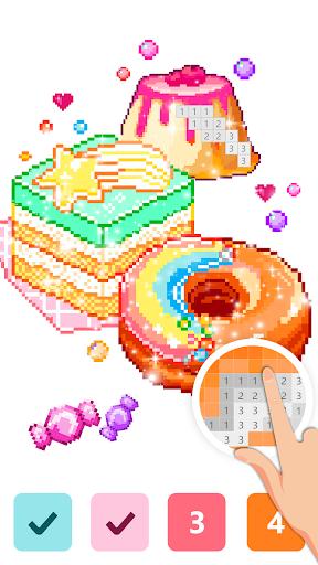 Pix123 - Color by Number, Pixel Art Relaxing Paint 2.4.8 screenshots 3