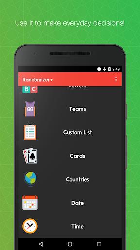 Randomizer+ Random Pick Generator - Decision Maker android2mod screenshots 2