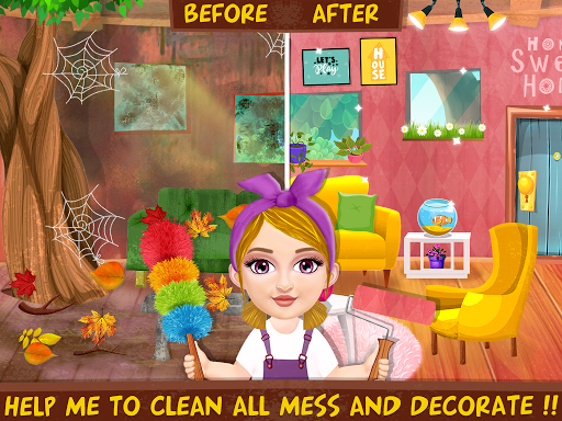 Messy House Cleanup Girls Home Cleaning Activities modavailable screenshots 4