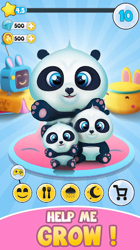 Pu - Cute giant panda bear, virtual pet care game 3.1 screenshots 2