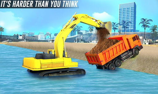 river sand excavator simulator: crane game screenshot 1