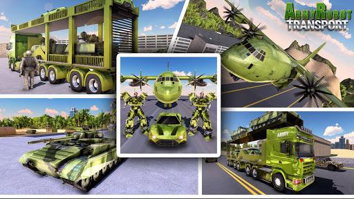 Télécharger Gratuit US Army Tank Robot Transform Cargo Plane Transport APK MOD (Astuce) screenshots 1