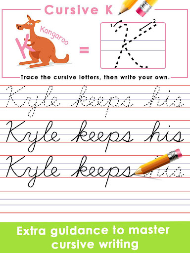 Kids Learn Cursive Writing - Cursive For Toddlers apkpoly screenshots 5