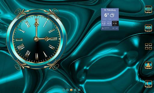 Turquoise Clock Widget  screenshots 9