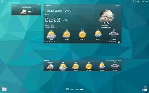 Weather & Clock Widget for Android screenshots 8