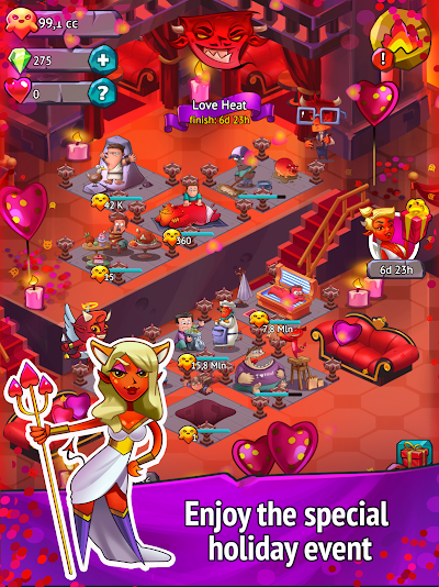 Idle Evil Clicker Android App Screenshot