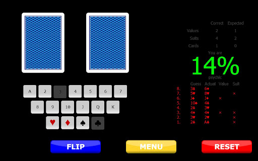 psychic test screenshot 2