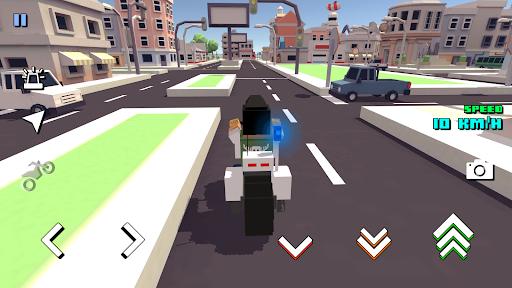 Blocky Moto Racing ud83cudfc1 - motorcycle rider  screenshots 6
