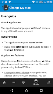 Change My MAC - Spoof Wifi MAC Screenshot
