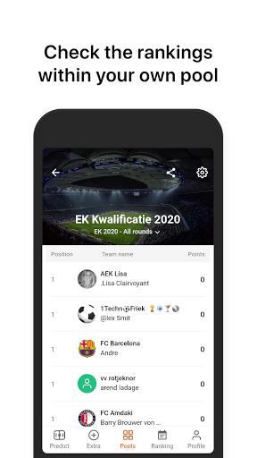 Voetbalpoules Euro 2020 Pool  screenshots 2