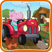 Kids farm. Village garden