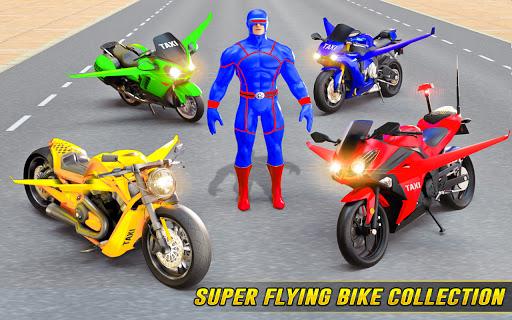 Superhero Flying Bike Taxi Driving Simulator Games 11 Screenshots 12