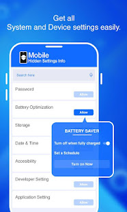 Mobile Hidden Settings Info