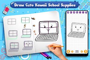 Learn to Draw Cute Kawaii School Supplies