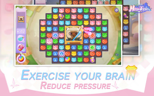 Meowtopia-Cat-themed decoration match 3 game  screenshots 10