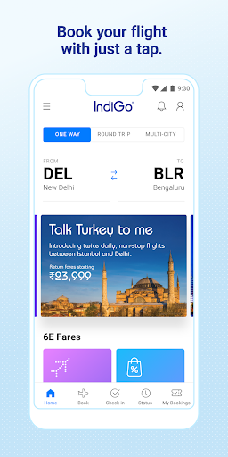 IndiGo-Flight Ticket Booking App 5.0.62 screenshots 1