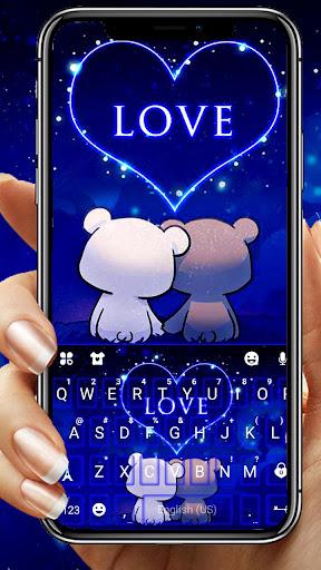 Bear Couple Love Keyboard Theme  screenshots 1
