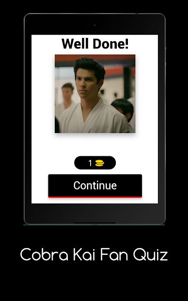 Screenshot 8 de Cobra Kai Fan Quiz para android
