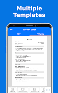 Top Resume Pdf Builder for freshers and experience Screenshot